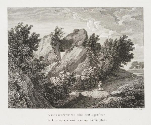 Vexierbild: Landschaft und Kopf