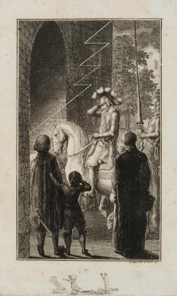 Gustav Adolf erhält ein göttliches Zeichen vor der Verwüstung von Landshut