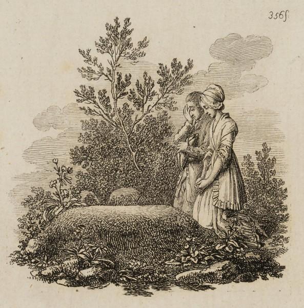 Minchen und Benjamin am Grab der Mutter