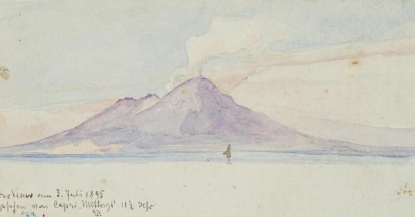 Der Vesuv von Capri aus gesehen