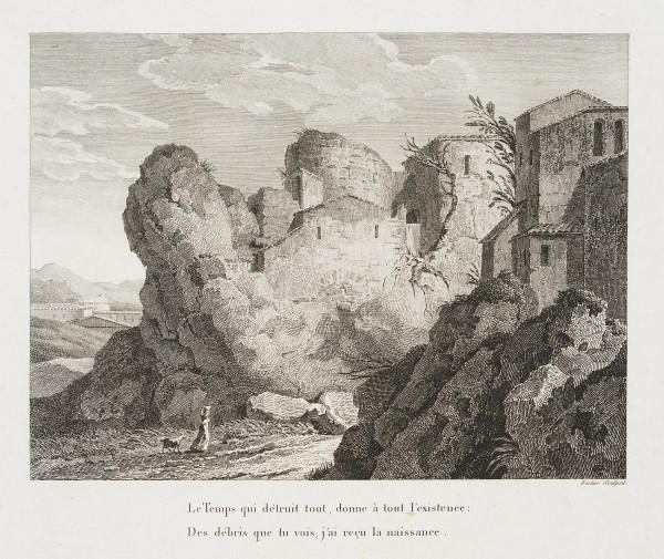 Vexierbild: Felsenlandschaft und Kopf
