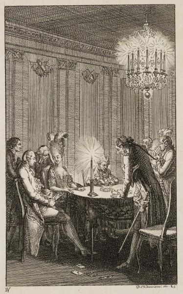 Kandide bei einer Abendgesellschaft
