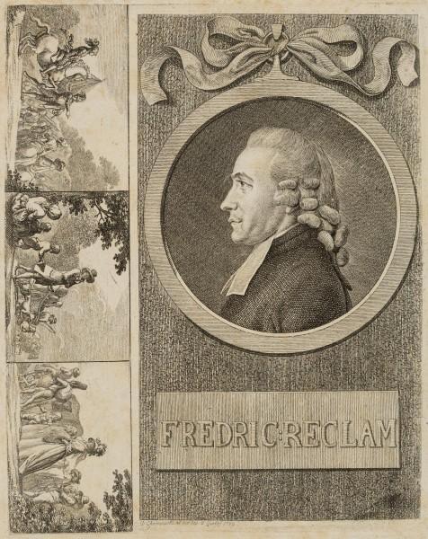 Portrait des Predigers Friedrich Reclam