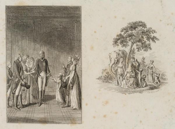 Familienszene Friedrich Wilhelms III. mit großem Randeinfall