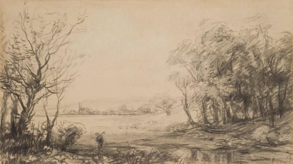 Uferlandschaft mit Bäumen