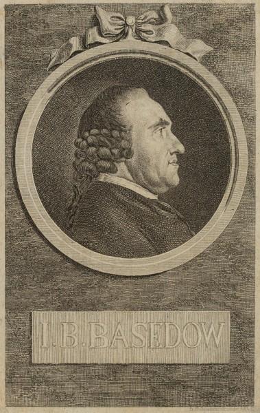 Portrait von Johann Bernhard Basedow