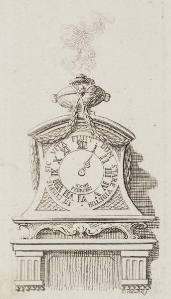 Eine Uhr auf einem Consol