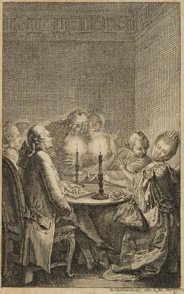 Heitere Gesprächsrunde bei Kerzenschein
