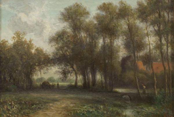 Landschaft mit Wanderer