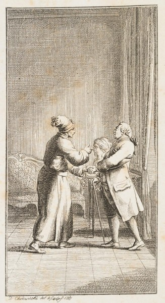 Webson zeigt Dr. Braun die Büste von Madame Arend