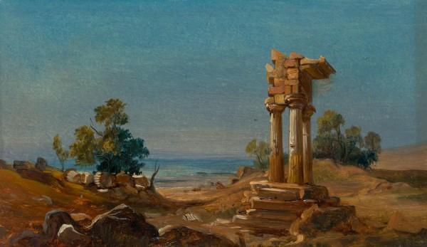 Antikes Tempelfragment am Meer