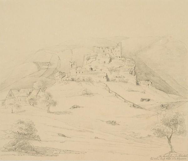 Burgruine bei Erlenbach in den Vogesen