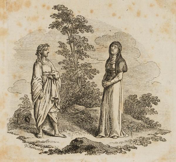 Jüngling und Nonne in Landschaft