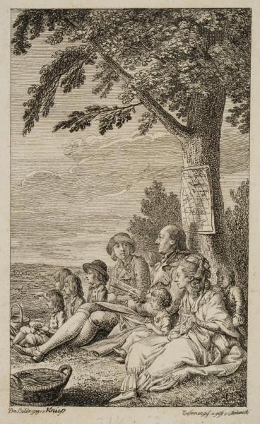 Joachim Heinrich Campe mit seiner Familie