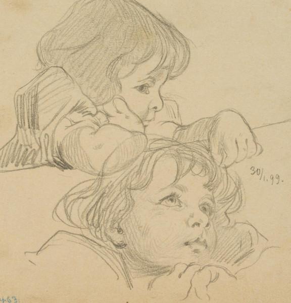 Zwei Porträtstudien eines Mädchens