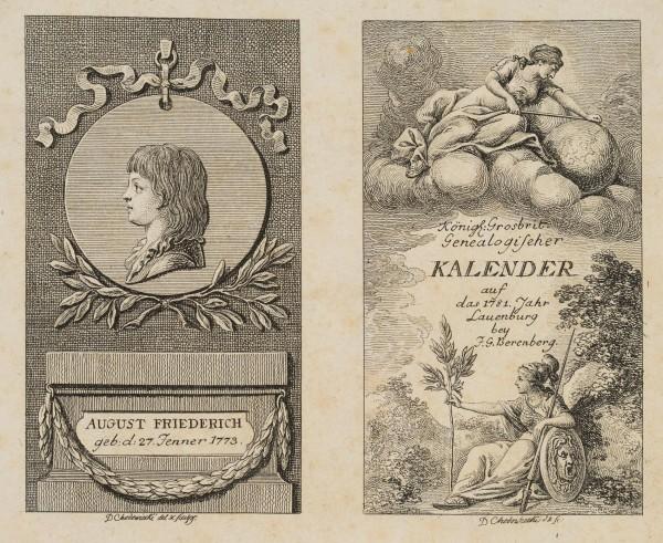 Titel und Portrait zum Lauenburger Kalender für 1781
