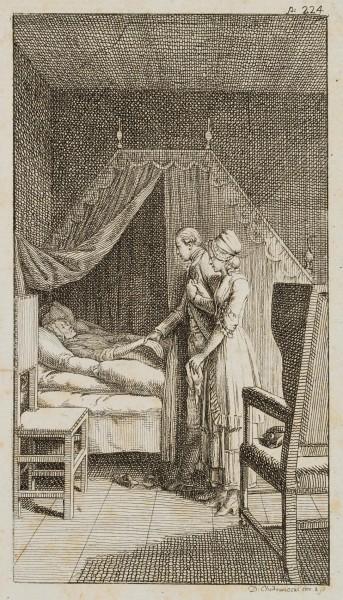 Alexander und Minchen am Sterbebett der Mutter