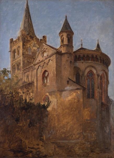 Die spätromanische Kirche St. Peter in Bacharach