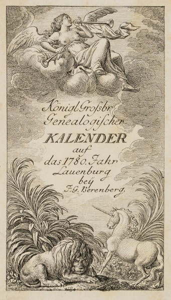 Titel zum Lauenburger Genealogischen Kalender für 1780