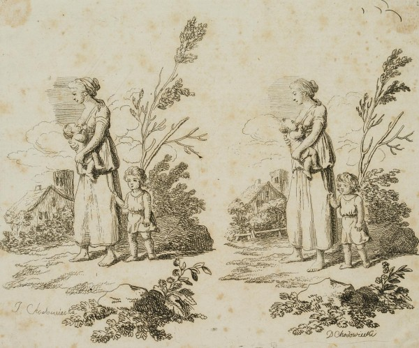 Die Frau mit zwei Kindern