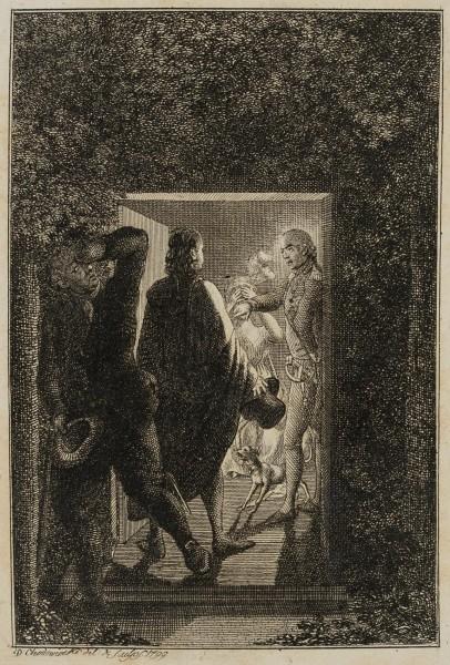 Hermann überrascht Julchen und den Prinzen Moritz