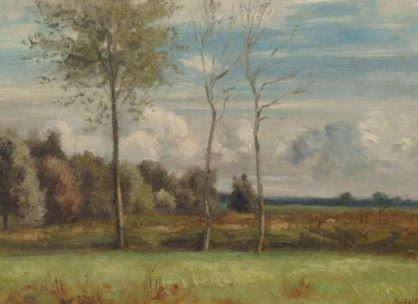 Sommerlandschaft mit Bäumen