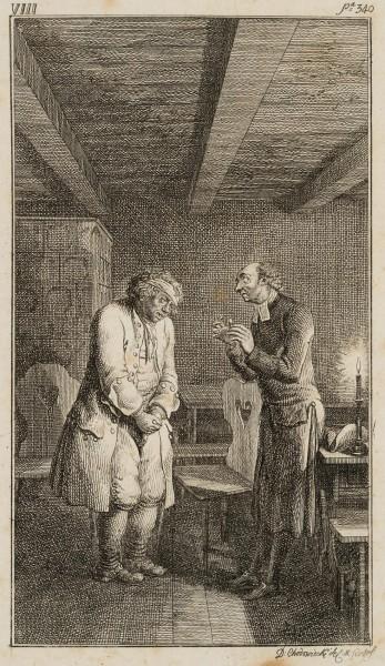 Der Vogt beichtet dem Pfarrer seine Sünden