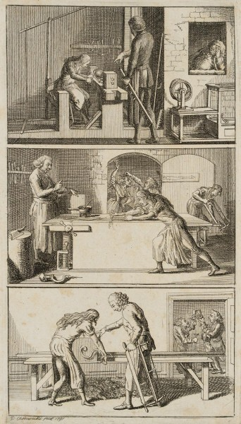 Szenen einer Tischlerwerkstatt