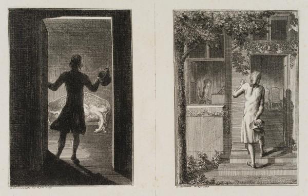 Der Offizier in der Kammer der Buhlerin & Horchend am Gartenhause