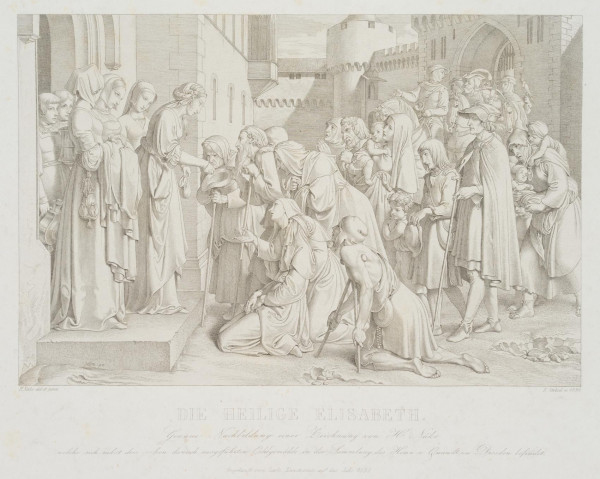Nach Gustav Heinrich Naeke (1786-1835): Die Heilige Elisabeth