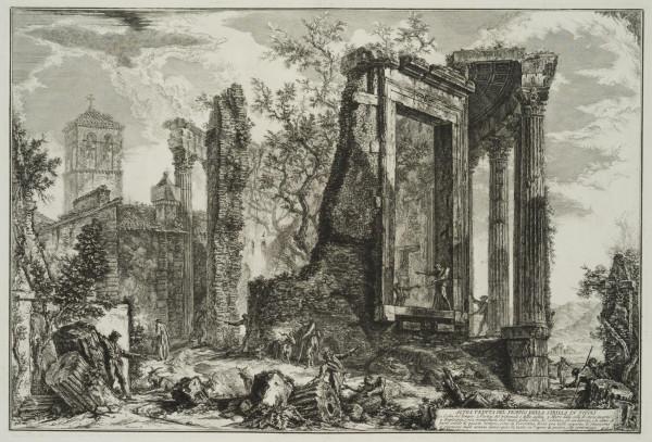 Ansicht des Sibyllentempels in Tivoli