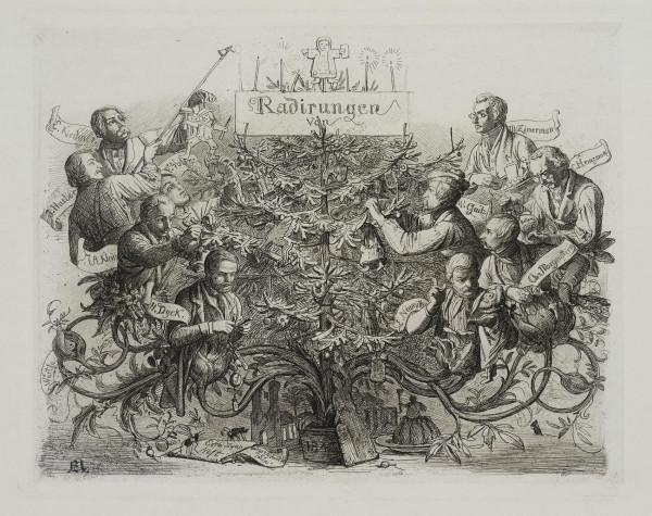 """Titelblatt zu """"Radir Club München"""", Erstes Heft 1843"""