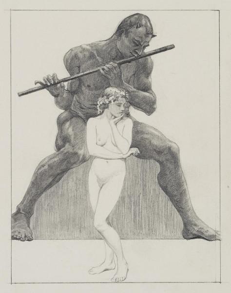 Flötender Faun und weiblicher Akt I