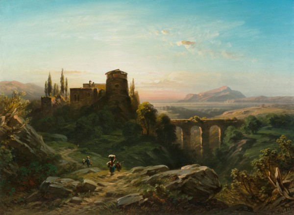Castello mit Viadukt in südlicher Landschaft