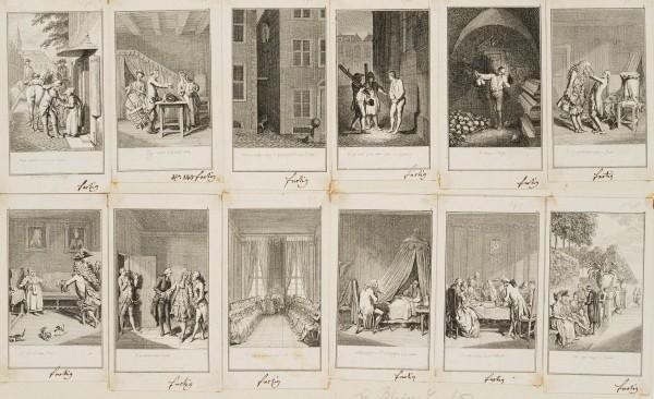 12 Blätter zu der Geschichte des Blaise Gaulard