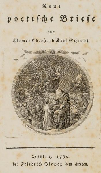 Titelseite zu Klamer Schmidt's neue poetische Briefe