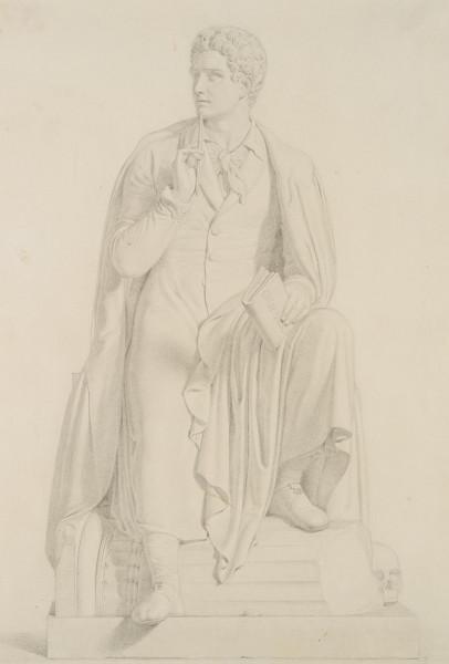 Lord Byron, nach der Skulptur von Bertel Thorvaldsen