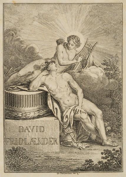David Fridländer's Bibliothekszeichen