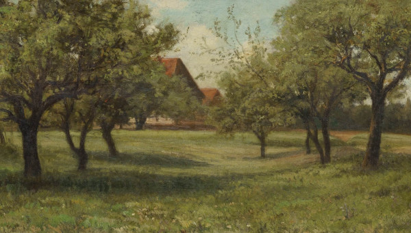 Sommerwiede mit Obstbäumen