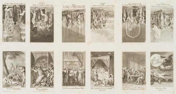 12 Blätter: Sechs Blätter zur neueren Geschichte und sechs Blätter zu Blumauer's Aeneide