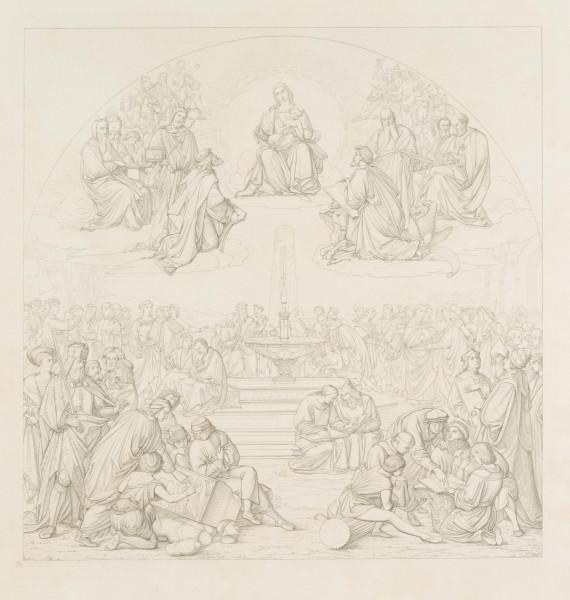 nach Friedrich Overbeck: Der Triumph der Religion in den Künsten, Probedruck