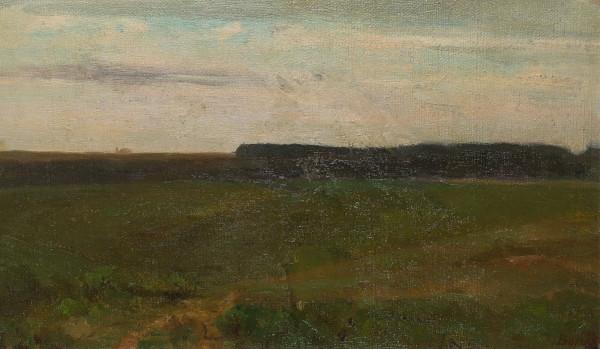 Französische Landschaft mit Waldrand