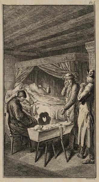 Sebaldus am Sterbebette seiner Frau und der Tochter