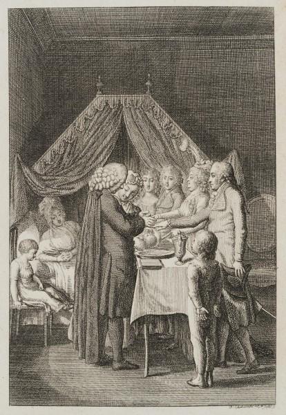 Taufe eines Neugeborenen
