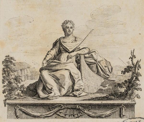 Weibliche Allegorie mit Kornähren