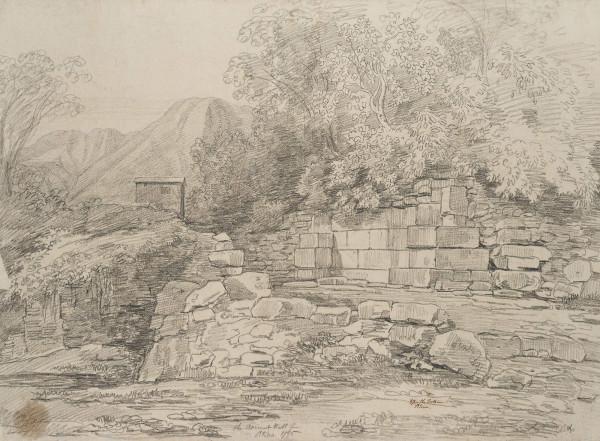 Ruinen der alten Stadtmauer von Atina