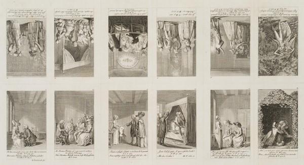 12 Blätter zu Cecilia oder Geschichte einer reichen Waise