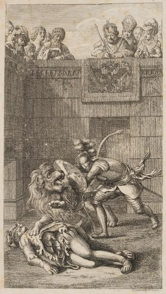 Graf Friedrich ersticht im Zwinger den Löwen