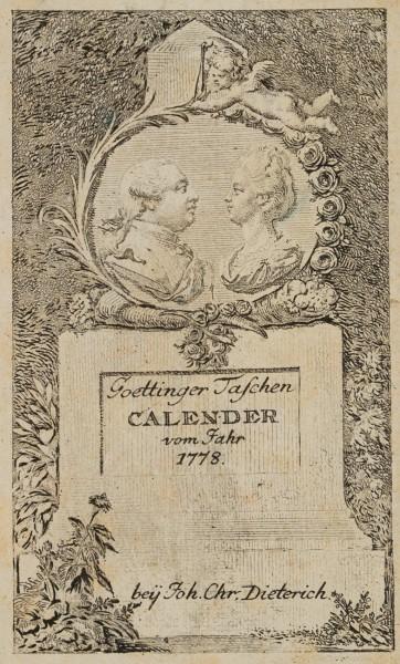 Titelblatt zum Göttinger Taschen-Calender für 1778