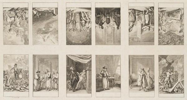 12 Blätter zu Voltaires Schriften